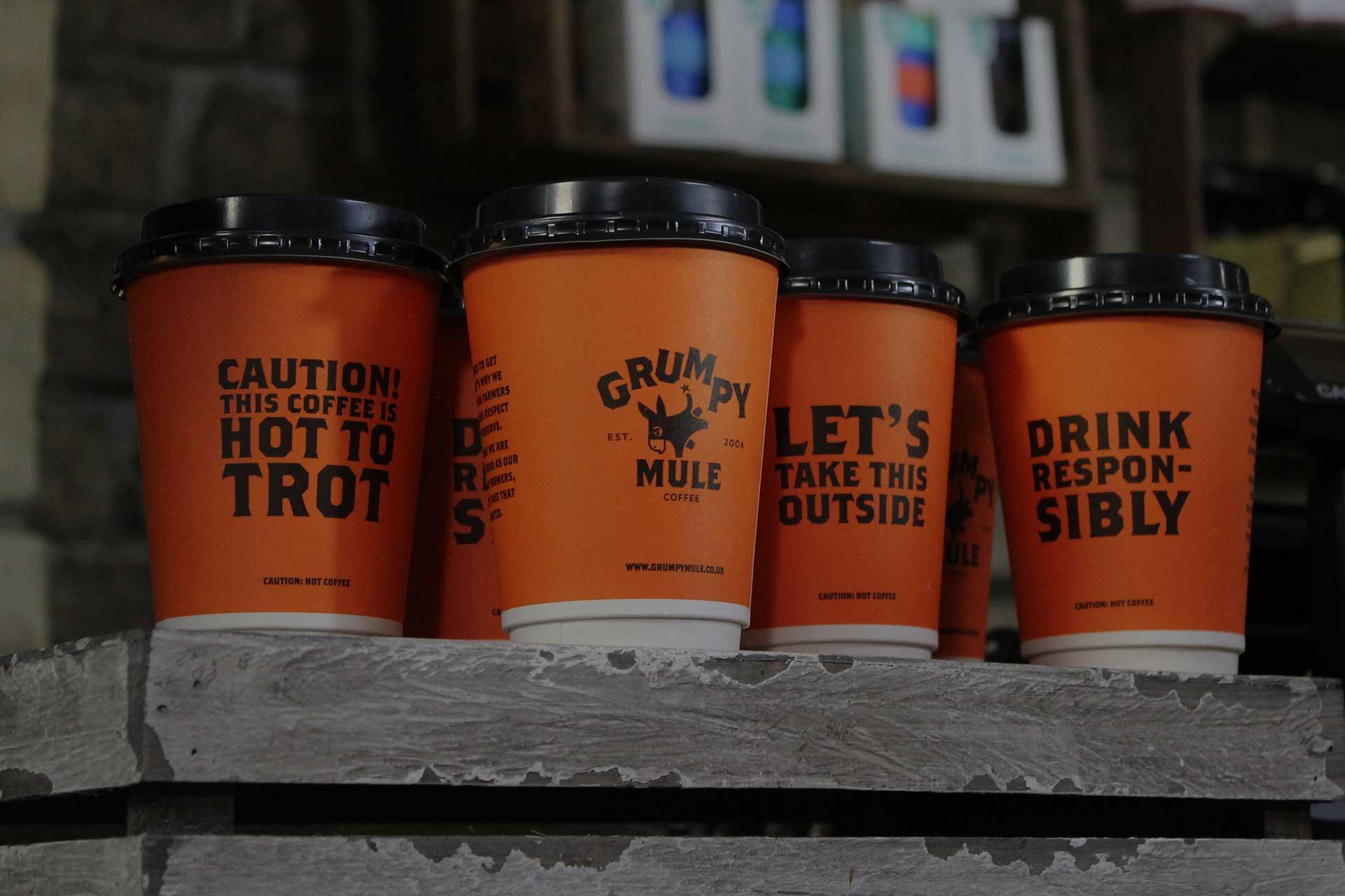 Grumpy Mule cups